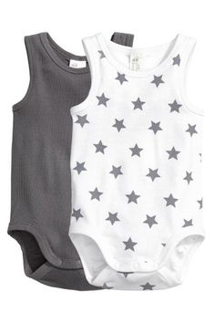 2-pack sleeveless bodysuits | H&M