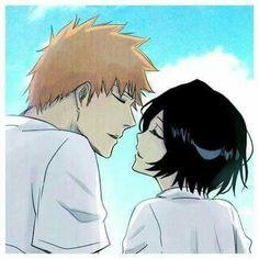 IchiRuki Bleach Ichigo And Rukia, Ichigo X Orihime, Bleach Manga, Studio Ghibli Wallpaper, Anime Manga, Anime Art, Bleach Couples, Bleach Fanart, Anime Ships