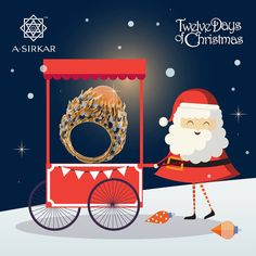 'Tis the fourth day of Christmas And for you alone I bring A ring to warm your fingers And make your heart sing.  Visit the store to see the Fire and Ice ring and other joyous creations, gift hampers and festivities, from now till December 25th. For details, please call +919051395392. #ASirkarJewellers #TwelveDaysofChristmas