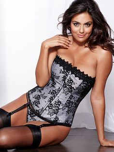 e87ae2d7c8 Hollywood Dream Full-Figure Lace Corset - Our best-selling corset is now in  a gorgeous lace design. Sleek satin is embellished with a luxuri.