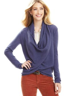 CHRISTOPHER FISCHER Cashmere Loop Neck Cardigan. love these colors together