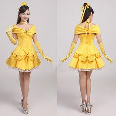 Beauty and the Beast Belle Princess Evening Party Evening Dress Costume Cosplay