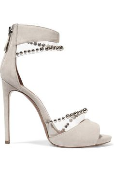 Bead-embellished PVC and suede sandals, $1,550, net-a-porter.com.