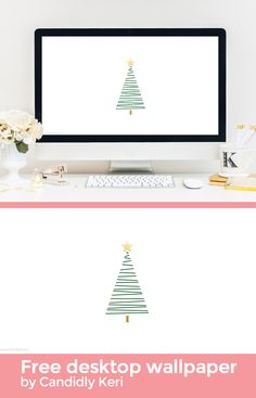 Christmas Tree drawn holiday background wallpaper you can download for free on the blog! For any device; mobile, desktop, iphone, android!