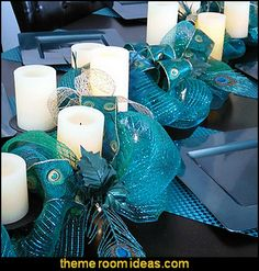 Decorating theme bedrooms - Maries Manor: peacock color Christmas ...