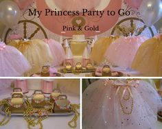 Once Upon a Time the Princess had a very special birthday celebration. Her party theme was shimmering Pink & Gold. Host your own fabulous Pink & Gold princess party. Shop Now for our Pink & Gold Princess Party to Go Box. www.myprincesspartytogo.com #pinkandgoldbirthdayparty