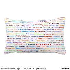 Villanova Text Design II Lumbar Pillow