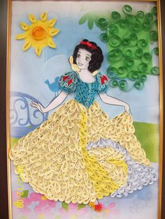 Lovely quilled Snow White