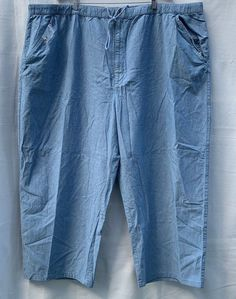 fd993dad6ea KING SIZE Women s Elastic Waist Drawstring Jeans Pant Plus Size 5XL NWOT  NEW  KingSIze