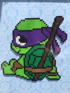 TMNT Donatello Perler Beads by HowlsMovingBoutique