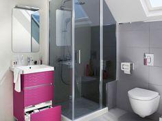 Un banc et des WC sous pente pour utiliser l'espace perdu - Une salle de bains de 3 m2, dix possibilités d'aménagement