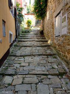 Piran Sidewalk, Side Walkway, Walkway, Walkways, Pavement