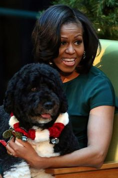 First Doggie, Bo and First Lady, Michelle...I Love this Photo!