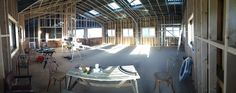 6) the soon to be function room at Toms Dairy
