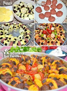 Patatesli Patlıcan Kebabı Tarifi Turkish Recipes, Ethnic Recipes, Eggplant Dishes, Homemade Beauty Products, Iftar, Paella, Neutral, Health Fitness, Cooking Recipes