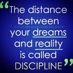 #Discipline can be a challenge when obstacles and disruptions keep coming. #DreamBig and go after your big #goals! Need help finding #targetedfollowers while you #focus on what you do best? Let me know and I'll put you in front of a larger targeted audience! 407-491-2346 by socialmediabusinesscoach