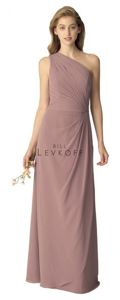 Bill Levkoff - 1268   Bridesmaids & Special Occasion at Jaehee Bridal Atelier    #aline #asymmetrical #oneshoulder #bridesmaid #bridesmaids #bridesmaiddresses