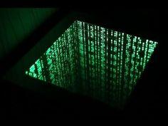 The Matrix infinity mirror effect .столик с подсве. The Matrix infinity m. Mirror Box, Led Mirror, Infinity Mirror Table, Infinity Spiegel, Infinite Mirror, Mirror Illusion, The Matrix Movie, Infinity Lights, Mirror Effect