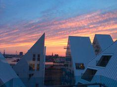 Aftenhimmel ind over Aarhus