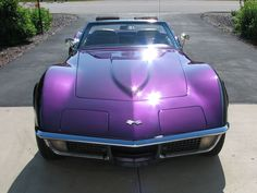1971 Corvette Convertible in Purple Metallic ... Now this car was made for me PURPLE !!!