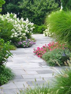 Garden path with Kentucky blue stone