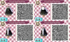 Excentrique Checkmate dress Animal Crossing New Leaf Qr Code ACNL