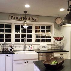 We just love Michelle's #Kitchen! I Spy Antique Farmhouse products here. Do you?  #homedecor