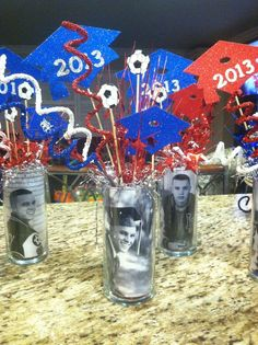 Graduation centerpieces | Graduation ideas | Pinterest