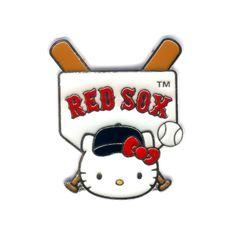 Boston Red Sox Hello Kitty Home Plate Base Pin, $15 via YawkeyWayStore.Com