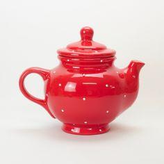 Decoration Piece, Handicraft, Tea Pots, Polka Dots, Hand Painted, Rustic, Ceramics, Traditional, Tableware