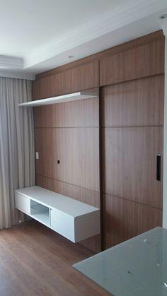 Tv Unit Design, Tv Wall Design, Bed Design, Wardrobe Door Designs, Wardrobe Design Bedroom, Minimalist House Design, Minimalist Home, Bedroom Tv Wall, Bedroom Decor