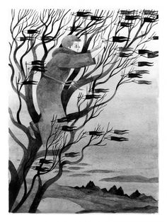 Illustration Inspiration: Carson Ellis By Carson Ellis Art And Illustration, Black And White Illustration, Animal Illustrations, Illustrations Posters, Carson Ellis, Tinta China, Guache, Inspiration Art, Ink Art