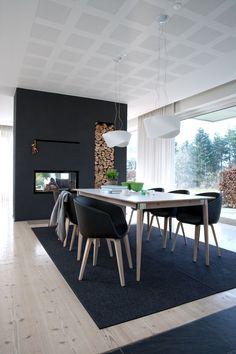 Compleet Eettafel Met 6 Stoelen.Zuiver Complete Eethoek Feston Zwart 6 Stoelen Eethoek In 2019