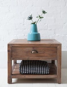 Scrubbed Pine Lamp Table245 rose and grey