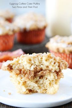 Eggnog Coffee Cake Muffins Recipe on twopeasandtheirpo. Love everything about these muffins! Eggnog Coffee Cake Muffins Joyce Brown Outreach 2019 Eggnog Coffee Cake Muffins Recipe on twopeasandtheirpo. Pound Cake Recipes, Muffin Recipes, Baking Recipes, Cookie Recipes, Dessert Recipes, Eggnog Coffee, Coffee Cake Muffins, Eggnog Recipe, Breakfast Dishes
