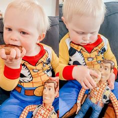 """Roberts Family on Instagram: """"Chase sharing his amazing churro cookie with his pal woody ❤️ 10/10 recipe from @pickypalate! So easy to make and makes your house smell…"""" Adventures By Disney, Disney Food, Churros, Woody, Cookie, Make It Yourself, Recipe, Amazing, Easy"""