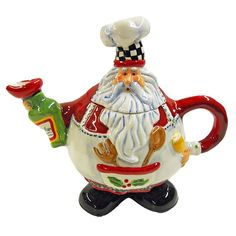 Christmas Santa Chef Teapot