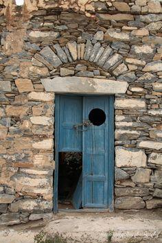 Blue Door in Greece.