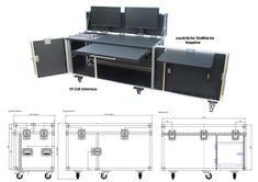Regiecase mobil Mobile Maker, Music Desk, Mobile Desk, Bar Counter Design, Road Cases, Home Theatre Sound, Rococo Furniture, Speaker Plans, Church Stage Design