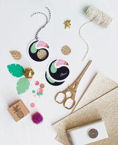DIY Toucan Gift Tags via Adore Magazine