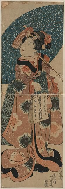 Kunisada.  From the Library of Congress' collection of Japanese prints. If you click through to the L.O.C., you can download a huge TIFF.