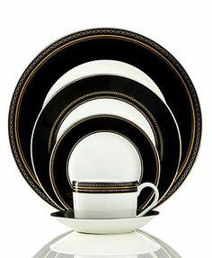 Vera Wang Dinnerware, With Love Noir 5-Piece Place Setting
