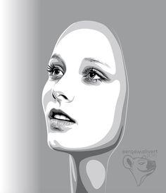 Noye by sergemalivert on DeviantArt Vector Portrait, Portrait Art, Portraits, Face Stencils, Stencil Art, Pencil Art Drawings, Art Sketches, Yarn Painting, Architecture Sketchbook