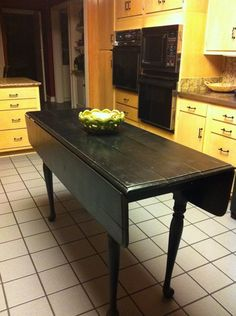 Black Drop Leaf Kitchen Table Farmers drop leaf table 6ft long 30 tall 2125 deep with before after drop leaf table restored and i have one that black kitchen workwithnaturefo
