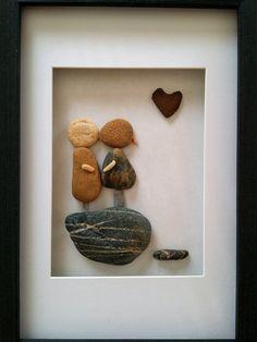 Regalo de compromiso único arte de piedra por madebynatureandme