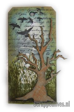 Card with Tim Holtz Sizzix dies