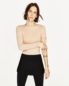 ZARA - COLLECTION SS/17 - CROPPED SWEATER WITH RIBBON
