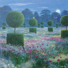 Alan Parry paints evocative paintings that are a joy to see. 'The Hunter' is the title. Just see the Owl