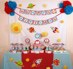 space party decorations   Give your young astronaut an out-of-this-world party experience!