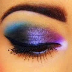 to do this look: SEPHORA COLLECTION Colorful Mono Eyeshadows in  Midnight Kiss 34, Welcome Aboard 73, Tender Pink 27, NA°14 Surfin USA